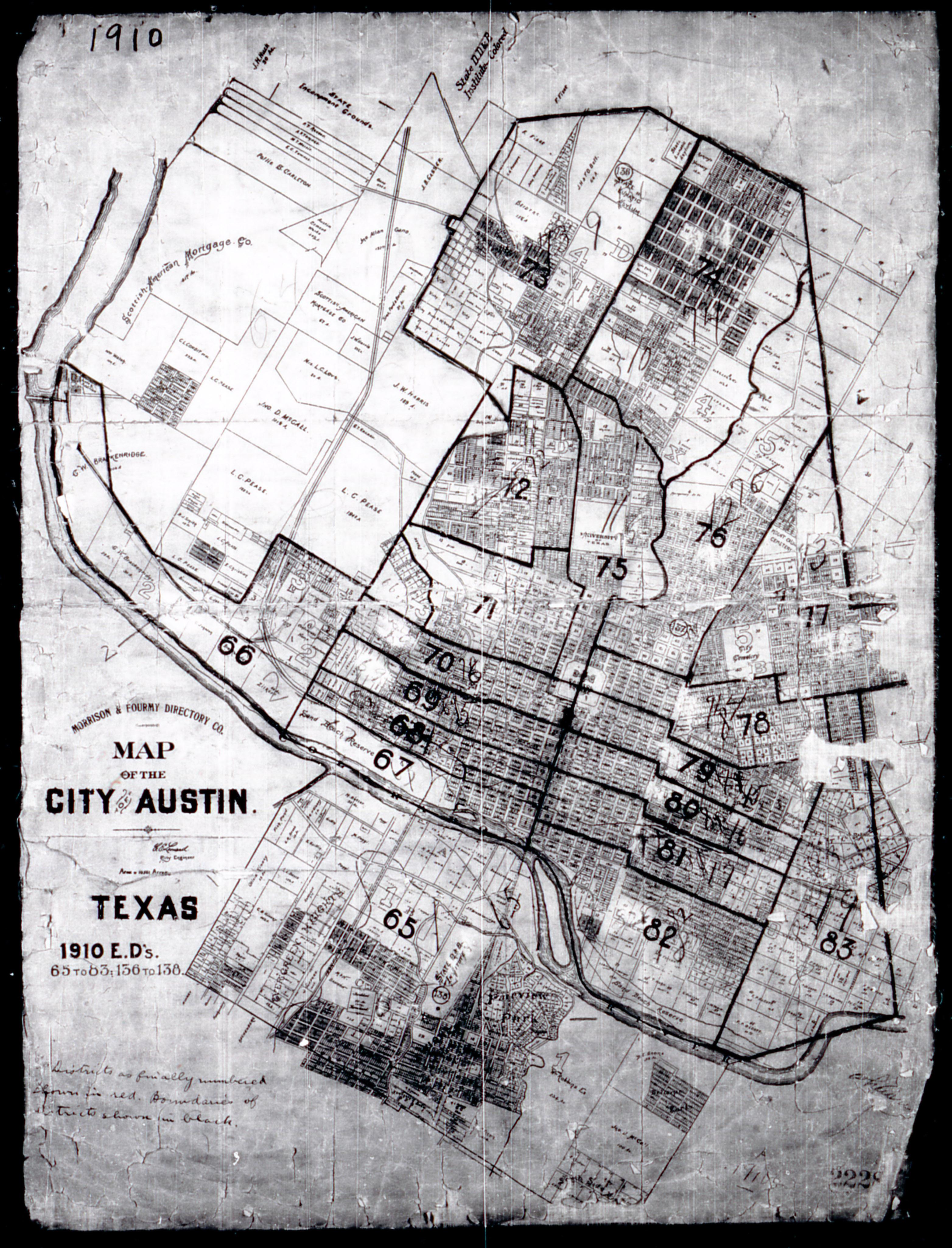 1910 City of Austin map