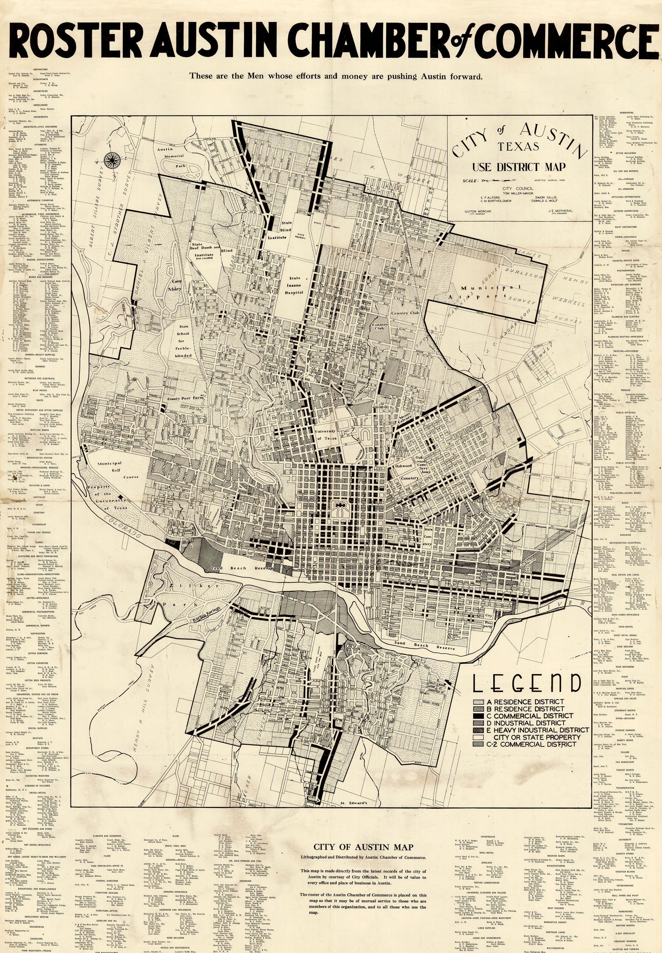 City of Austin Map 1939